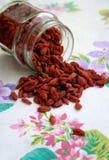 Tibetanische goji Beeren (wolfberries) Lizenzfreies Stockfoto
