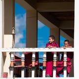Tibetanische Jungen, buddhistische Mönche des Anfängers. Indien Lizenzfreie Stockfotos