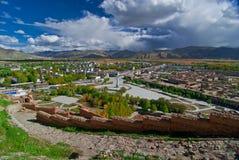Tibetanische Landschaft stockfotografie