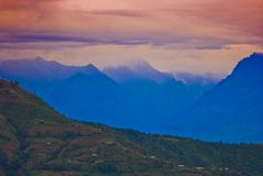 Tibetanische Landschaft   stockbild
