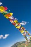 Tibetanische Markierungsfahnen - lungta Stockbild