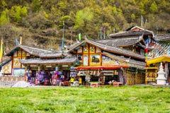 Tibetanische Shops Stockbild