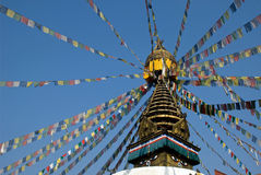 Tibetanischer Buddhismus Stupa stockbilder