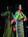 Tibetanischer Frauen-Tanz Stockbilder