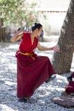 Tibetanischer Mönch Stockfotos