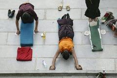 Tibetanischer Mönch in Lhasa Lizenzfreies Stockfoto