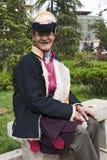 Tibetanischer Mann in der Yunnan-Provinz Stockfotografie