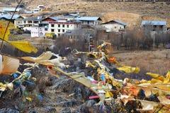 Tibetanisches buddhistisches Kloster Songzanlin, Shangri-La, Xianggelila, Yunnan-Provinz, China stockbilder