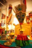 Tibetanisches buddhistisches Stillleben Stockfotos