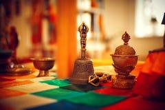 Tibetanisches buddhistisches Stillleben Lizenzfreies Stockfoto