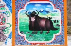 Tibetanisches Haus lizenzfreies stockfoto