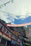 Tibetanisches Haus lizenzfreie stockfotos