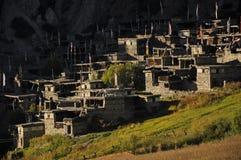 Tibetanisches Steindorf, Nepal Lizenzfreies Stockfoto