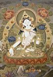Tibetanisches tangka weißer Tara Goddes Lizenzfreies Stockbild