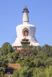 Tibetano bianco Stupa al parco di Beihai, Pechino, Cina Immagine Stock Libera da Diritti