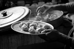 Tibetano Momos Fotografie Stock