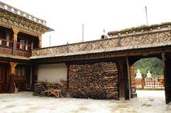 Tibetano residencial Fotografia de Stock Royalty Free
