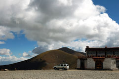 Tibetans. Qinghai-Tibet Plateau, the Tibetans have a great national character of residential Royalty Free Stock Photography