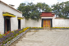 Tibetans house at the Norbulinka Garden. In Lhasa Stock Photography