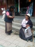 The tibetans daily life. Tibet litang,The tibetans Stock Images
