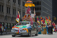 Tibetans Represented Tibet in the 20th International Cultures Pa. NEW YORK, NY - JUNE 21:Tibetans Represented Tibet in the 20th International Cultures Parade in Royalty Free Stock Image