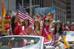 Tibetans Represented Tibet in the 20th International Cultures Pa. NEW YORK, NY - JUNE 21:Tibetans Represented Tibet in the 20th International Cultures Parade in Stock Photography