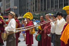 Tibetans Represented Tibet in the 20th International Cultures Pa. NEW YORK, NY - JUNE 21:Tibetans Represented Tibet in the 20th International Cultures Parade in Stock Images