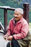 Tibetant berätta för farbror Fotografering för Bildbyråer