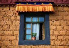 Tibetant fönster Fotografering för Bildbyråer