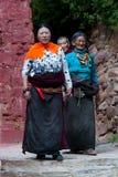 Tibetant vallfärdar Arkivbilder