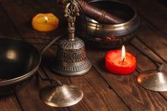Tibetian-Instrumente für Musikmeditation stockfotografie
