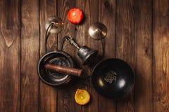 Tibetian-Instrumente für Musikmeditation stockfotos