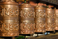 Tibetian prayer wheels Royalty Free Stock Photos