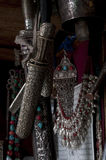 Tibetian silver traditional folklore  equipment Stock Photography
