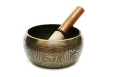 Tibetian singing bowl Royalty Free Stock Images
