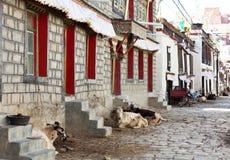 Tibetian street Stock Images