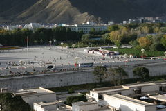 Tibets Potala Palast in Lhasa Lizenzfreie Stockfotos