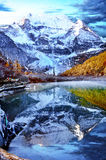 Tibets snowcapped mountains scenery Royalty Free Stock Images