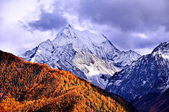 Tibets snowcapped mountains scenery Stock Photo