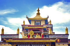Tibettian temple in Coorg. Landscape of tibbettian temple in coorg during a vibrant afternoon Royalty Free Stock Image