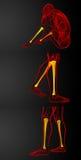 Tibia bone. 3d rendering medical illustration of the tibia bone Stock Images