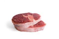 tibia cru de viande de boeuf Photos libres de droits