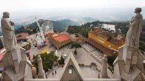 Tibidabo小山,巴塞罗那 免版税库存图片