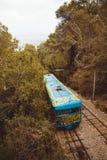 Tibidabo缆索铁路在巴塞罗那,卡塔龙尼亚,西班牙 库存照片