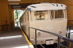 Tibidabo缆索铁路在巴塞罗那 免版税库存图片