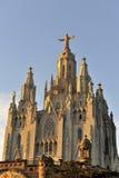 tibidabo Испании церков barcelona стоковое изображение
