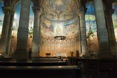 tibidabo Испании церков barcelona стоковая фотография
