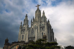 Tibidabo. Church of the Sacred Heart of Jesus on mount Tibidabo Royalty Free Stock Photo