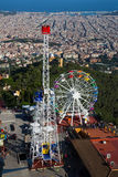 Tibidabo Amusement Park in Barcelona Stock Photography