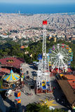 Tibidabo Amusement Park in Barcelona Stock Image